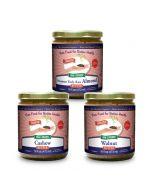 European Almond Cashew Walnut Butter Bundle 16 oz, Sprouted, Organic  (Enjoy Great Savings!)