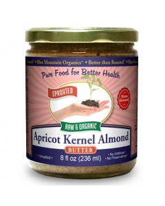 Apricot Kernel-Almond Butter 8 oz, Sprouted, Organic