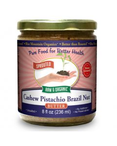 Cashew-Pistachio-Brazilnut Butter 8 oz, Sprouted, Organic