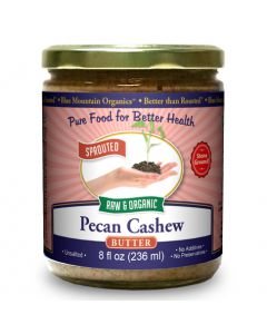 Pecan-Cashew Butter 8 oz, Sprouted, Organic